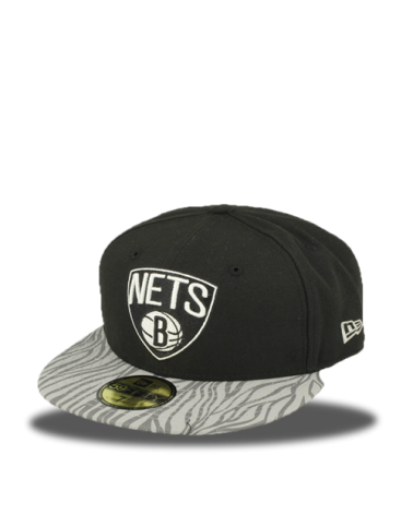 BROOKLYN NETS 59FIFTY ZEBRA