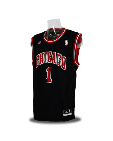Camiseta Chicago Bulls Replica Rose Negra