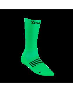 Calcetín funcional mid cut Spalding verde/flúor
