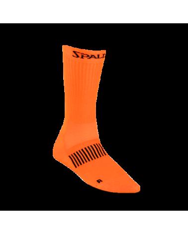 Calcetín funcional mid cut Spalding naranja/flúor