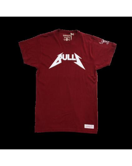 Camiseta Rock Chicago Bulls Granate