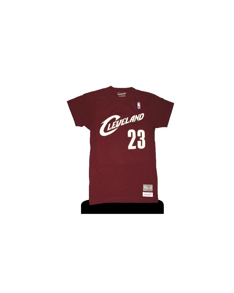 best service a4571 d6586 Cleveland Cavaliers Lebron James Burgundy Shirt