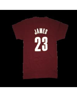 Cleveland Cavaliers Shirt Lebron Burgundy