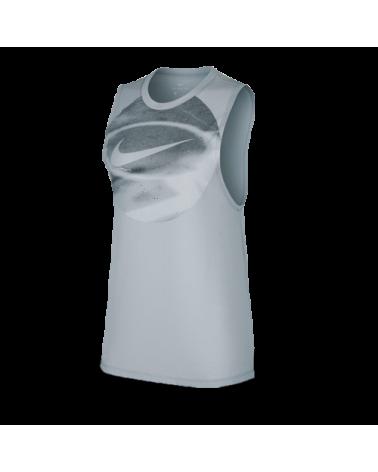 Top Femenino Nike Dry Gris