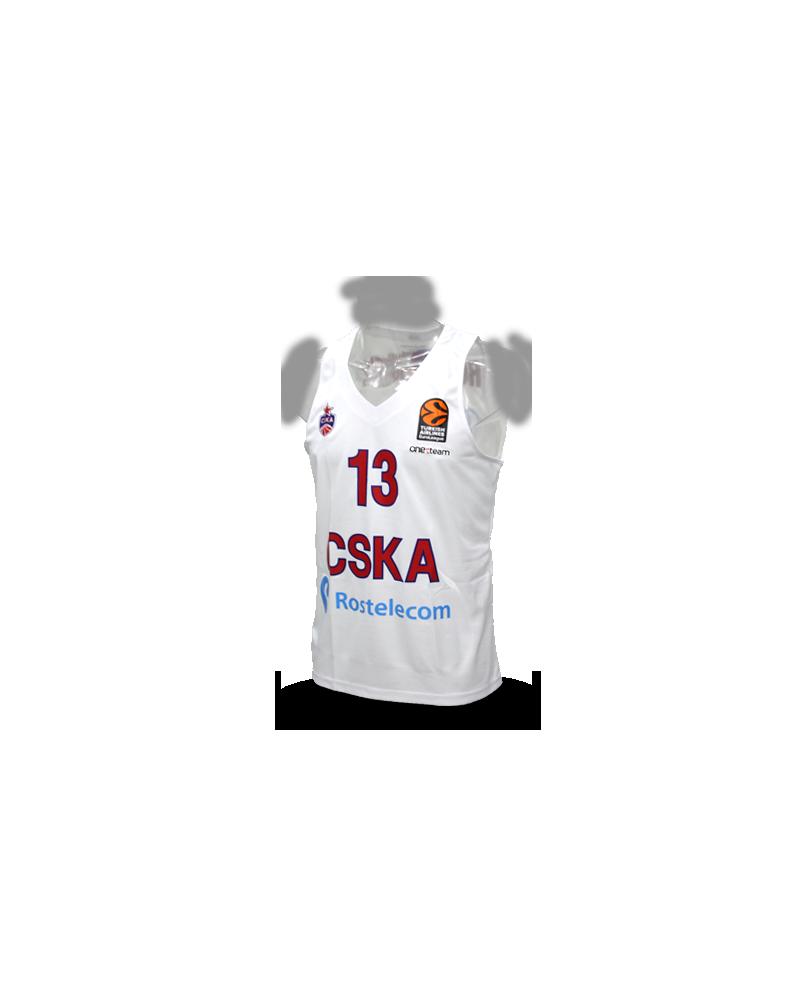 Euroliga CSKA Sergio Rodríguez Jersey White