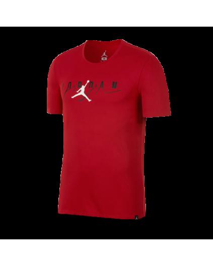 Flight Mash-Up Jordan Tee Red