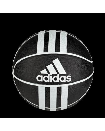 Balón Adidas 3 Bandas Negro