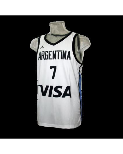 Campazzo Argentina White Jersey