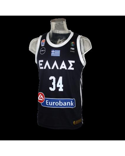 Camiseta FIBA Grecia Antetokounmpo Navy