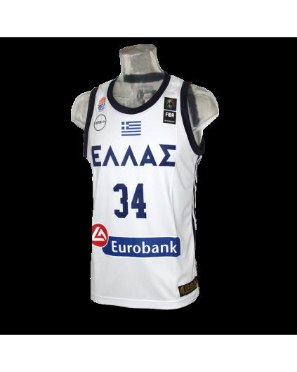 Camiseta FIBA Grecia Antetokounmpo Blanca