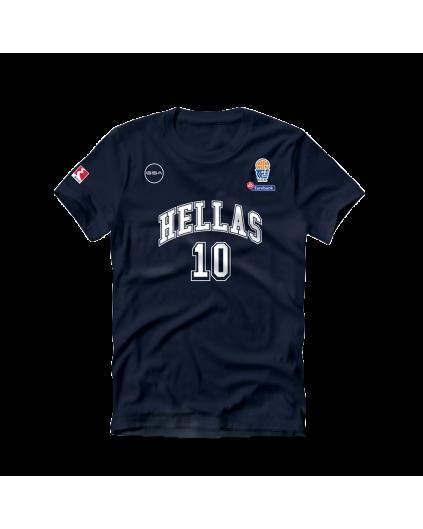 Camiseta Grecia Sloukas Navy