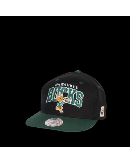 M&N Snapback Milwaukee Bucks