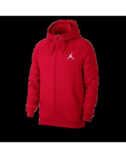 Jordan Jumpman Fleece Men's Full-Zip Hoodie Red