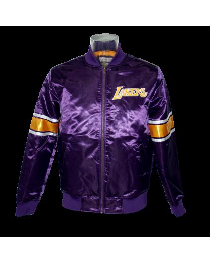 Heavy Satin Jacket Los Angeles Lakers