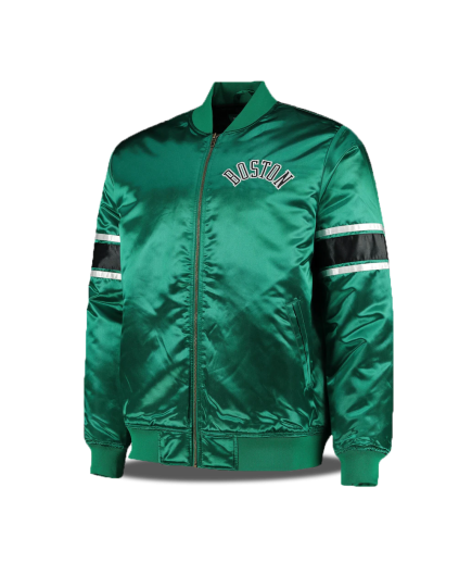 Satin Jacket Boston Celtics