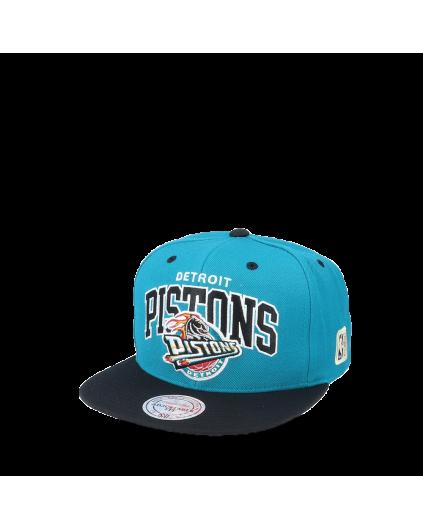 Gorra M&N Arch Team 2 Tones Detroit Pistons