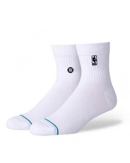 Calcetín Stance NBA Logo Blanco QTR