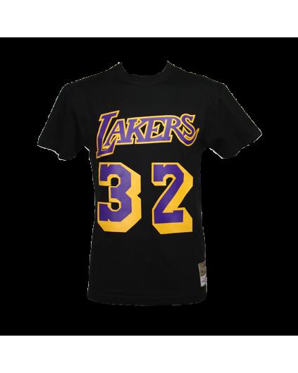 Camiseta Negra NBA Magic Johnson Lakers