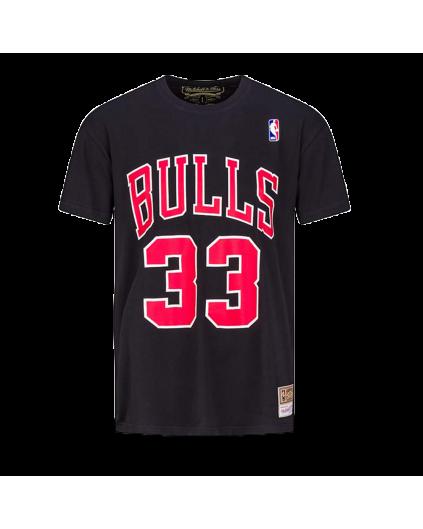 Camiseta Negra NBA Scottie Pippen Bulls