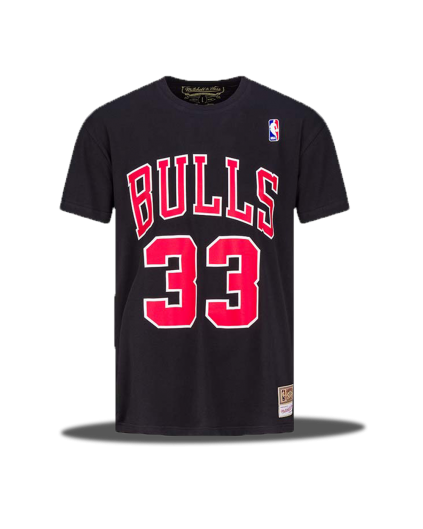 NBA Scottie Pippen Bulls Black Tee